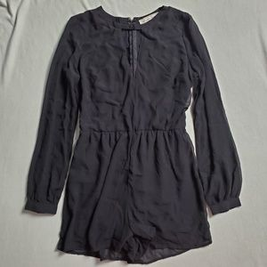 Abercrombie &Fitch Long Sleeve Sheer Sleeve Romper
